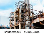 oil and gas industry  ... | Shutterstock . vector #605082806