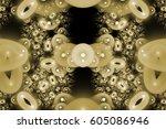 fractal art background for... | Shutterstock . vector #605086946
