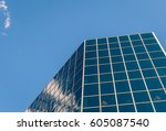 urban geometry  looking up to... | Shutterstock . vector #605087540