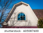arched roof with isolated... | Shutterstock . vector #605087600