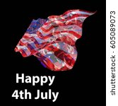 happy 4th of july  usa... | Shutterstock .eps vector #605089073