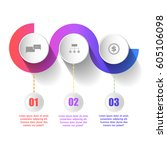 abstract colorful circle...   Shutterstock .eps vector #605106098