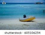 speed boat at ko lipe  thailand. | Shutterstock . vector #605106254