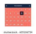 calendar ui kit flat minimal...