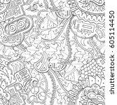 tracery seamless calming... | Shutterstock .eps vector #605114450