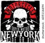 motorcycle poster skull tee...