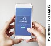 digital data is an online... | Shutterstock . vector #605122658