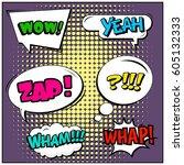 abstract creative concept comic ... | Shutterstock .eps vector #605132333