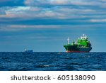 Green Cargo Ship Moored In...