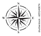 a vector compass rose with...   Shutterstock .eps vector #605140874