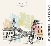 murano island in venice  italy  ...   Shutterstock .eps vector #605147804
