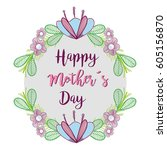 happy mother day symbol icon | Shutterstock .eps vector #605156870