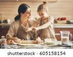 happy loving family are... | Shutterstock . vector #605158154