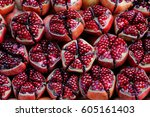 pomegranate | Shutterstock . vector #605161403
