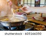 close up shabu shabu and...   Shutterstock . vector #605166350