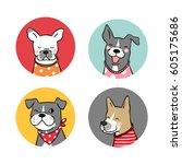 Stock vector vector illustration logo of dog 605175686
