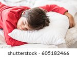 Kid In Bedroom Sleepin On Bed...