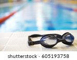 image of swimming pool and... | Shutterstock . vector #605193758