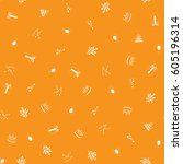 happy birthday freehand... | Shutterstock .eps vector #605196314