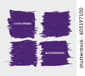 blue purple brush stroke frame... | Shutterstock .eps vector #605197100