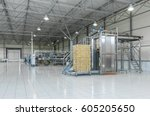 panorama of the workshop for... | Shutterstock . vector #605205650