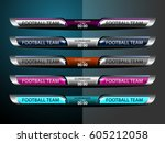 scoreboard sport template for... | Shutterstock .eps vector #605212058