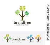 brand tree  vector logo template