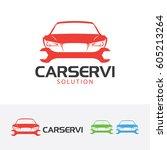 car service  vector logo... | Shutterstock .eps vector #605213264
