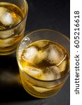 Whiskey With Ice Close Up On A...