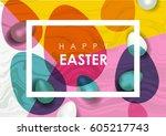easter festive vector...   Shutterstock .eps vector #605217743