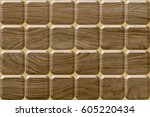 abstract home decorative wooden ... | Shutterstock . vector #605220434