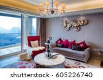 decoration and design of modern ... | Shutterstock . vector #605226740