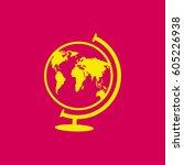 world globe.vector icon.   Shutterstock .eps vector #605226938