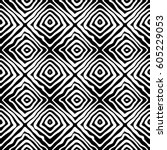 black and white zebra illusion... | Shutterstock .eps vector #605229053