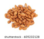 Almonds Nuts. Isolated On Whit...