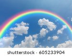 sky and rainbows   Shutterstock . vector #605233904