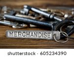 photo of key bunch on wooden... | Shutterstock . vector #605234390
