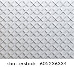 white 3d texture of a set of... | Shutterstock . vector #605236334