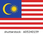 original and simple malaysia... | Shutterstock .eps vector #605240159