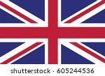 flag of united kingdom page... | Shutterstock .eps vector #605244536