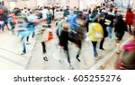 rush hour | Shutterstock . vector #605255276