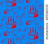 pattern. background texture.... | Shutterstock .eps vector #605260133