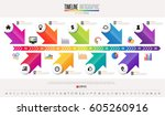 timeline infographics design... | Shutterstock .eps vector #605260916