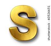 3d rendering of the letter s in ...   Shutterstock . vector #60526651