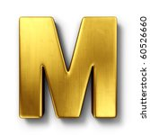 3d rendering of the letter m in ... | Shutterstock . vector #60526660
