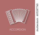 music instrument retro line...   Shutterstock .eps vector #605287760