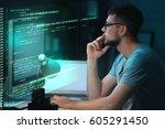 program development concept.... | Shutterstock . vector #605291450