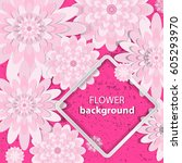 spring congratulatory floral...   Shutterstock .eps vector #605293970