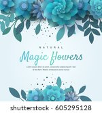 bright floral arrangement for... | Shutterstock .eps vector #605295128