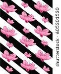 cherry blossom | Shutterstock .eps vector #605301530